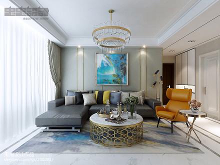精选面积96平新古典三居客厅实景图片欣赏