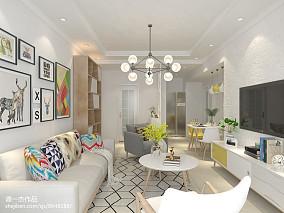 2018精选90平米二居客厅北欧设计效果图