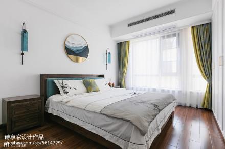 大气中式主卧设计卧室