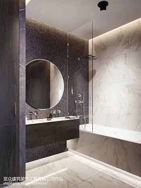 热门三居卫生间装修实景图片欣赏三居欧式豪华家装装修案例效果图