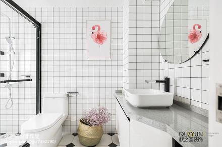 简洁55平北欧二居卫生间装修图卫生间