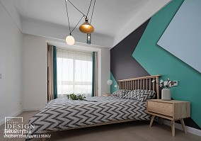 质朴79平北欧三居卧室装修案例
