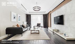 2018面积108平简约三居客厅装修设计效果图片