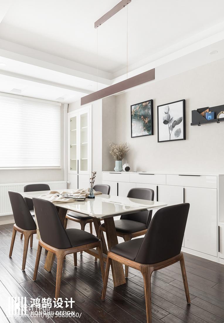 面积98平简约三居餐厅装修图片欣赏厨房现代简约餐厅设计图片赏析