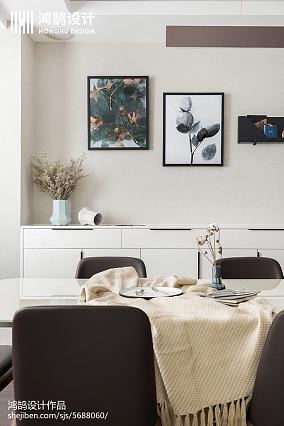 精美面积90平简约三居餐厅装修实景图片