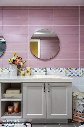 新美式主义卫浴洗手台设计卫生间美式经典设计图片赏析