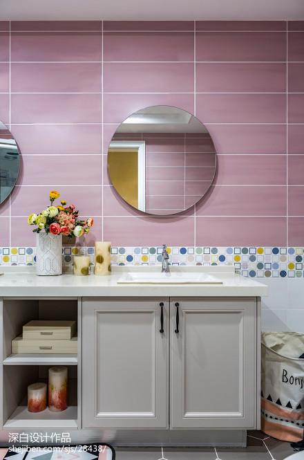 新美式主义卫浴洗手台设计卫生间