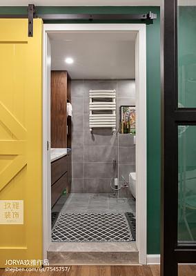 轻奢118平北欧三居卫生间装饰图片卫生间北欧极简设计图片赏析