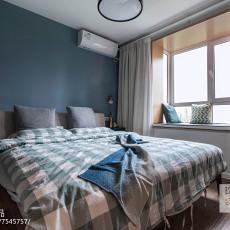 精致103平北欧三居卧室布置图