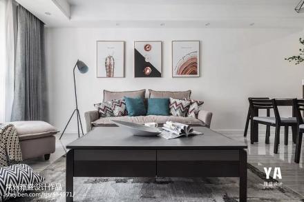 华丽107平现代二居客厅图片欣赏二居现代简约家装装修案例效果图