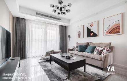 精美64平现代二居客厅设计效果图
