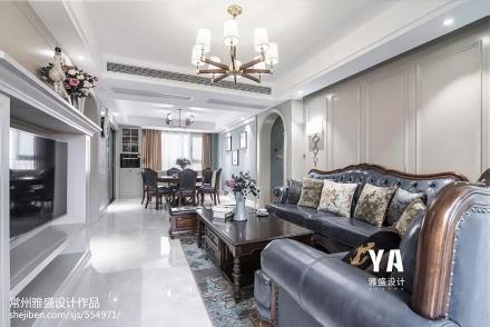 浪漫100平美式三居客厅效果图客厅