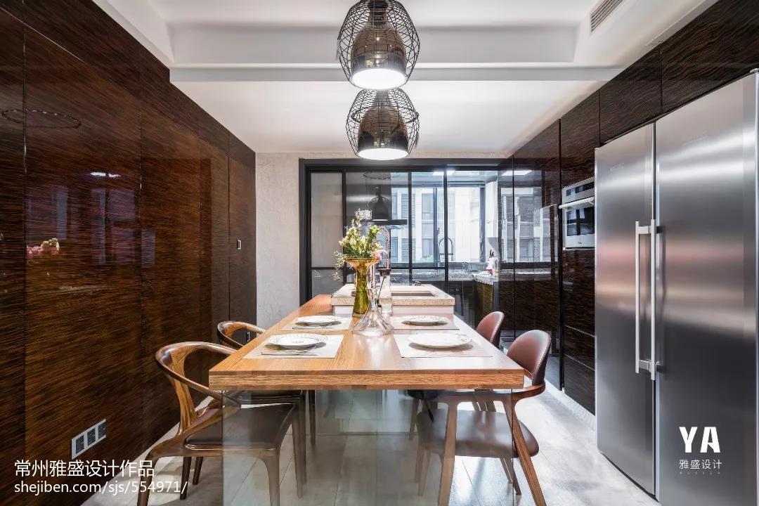 2018精选101平米三居餐厅现代装修设计效果图片大全厨房