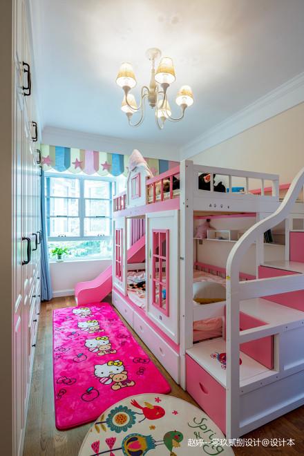 美式四居儿童房设计实景卧室
