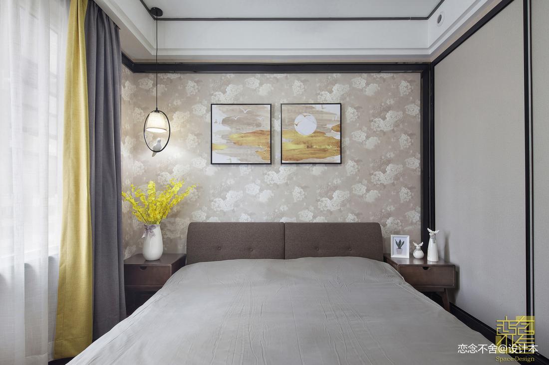 2018精选103平米三居卧室混搭装修效果图片大全卧室