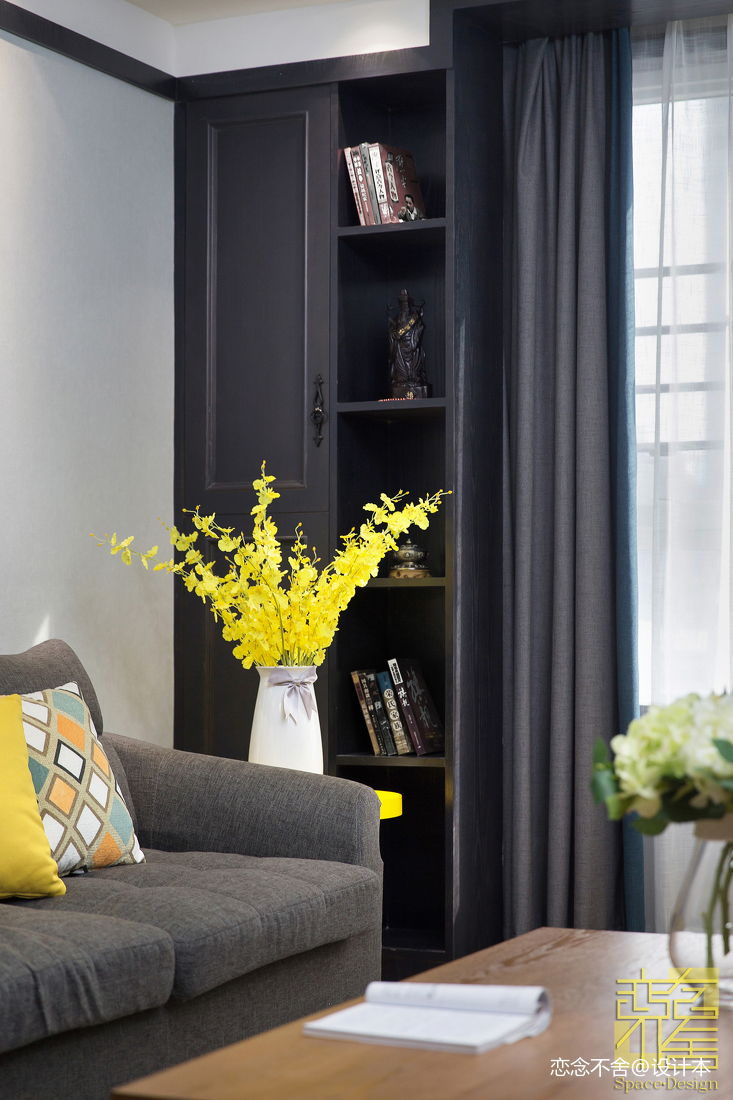 热门面积108平混搭三居客厅装饰图客厅