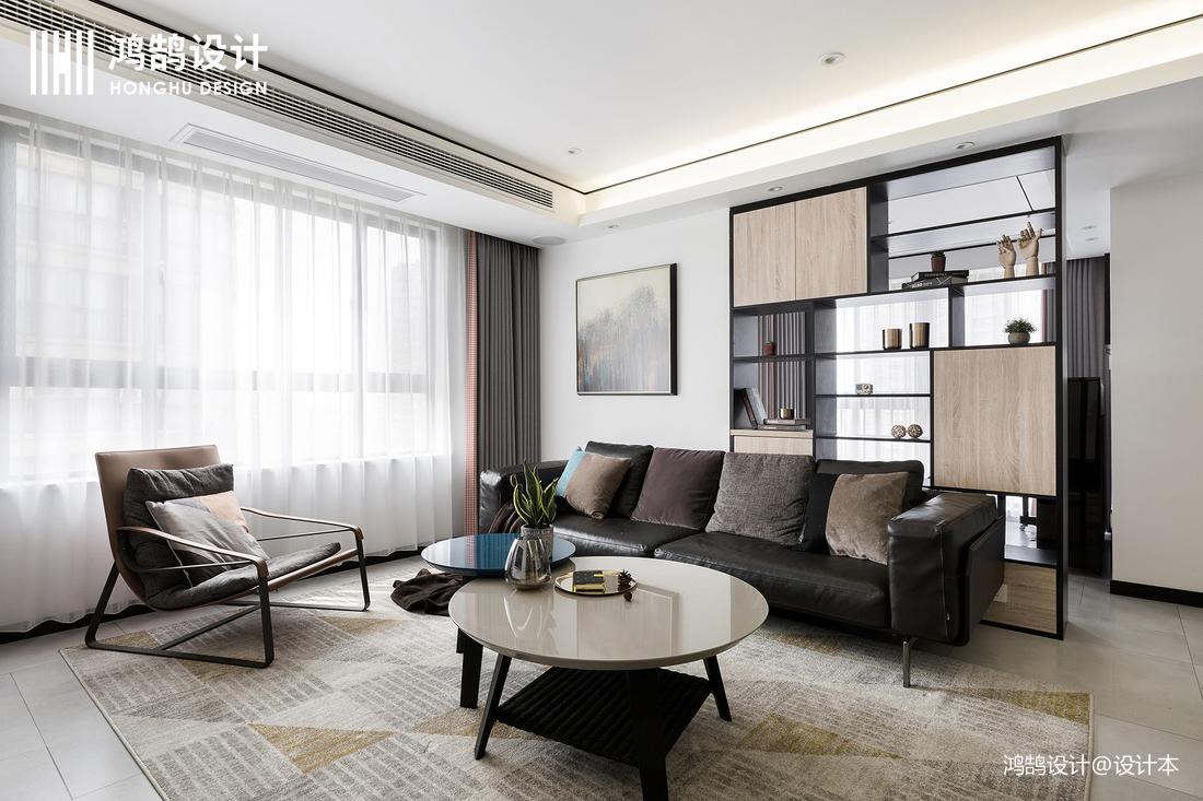 90平米三居客厅现代设计效果图客厅