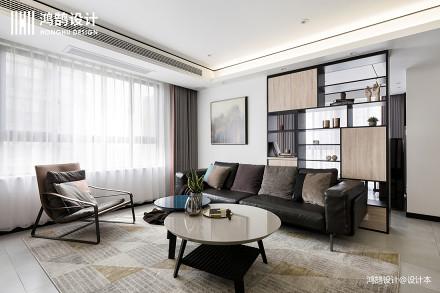90平米三居客厅现代设计效果图