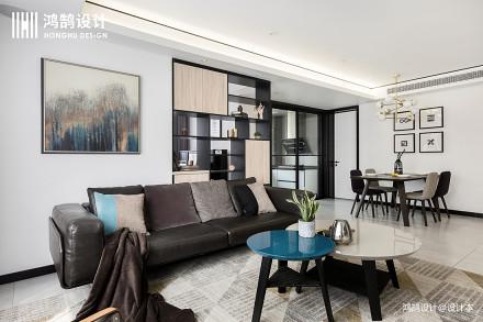 104平大小现代三居效果图片三居现代简约家装装修案例效果图
