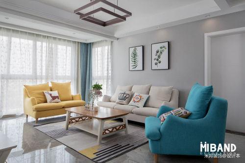 质朴180平混搭四居客厅装修美图客厅窗帘151-200m²四居及以上潮流混搭家装装修案例效果图