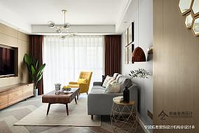 简洁55平北欧二居客厅装修图二居北欧极简家装装修案例效果图