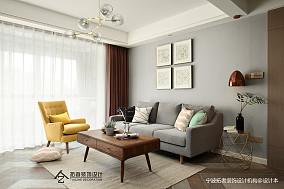 优美85平北欧二居客厅装潢图二居北欧极简家装装修案例效果图