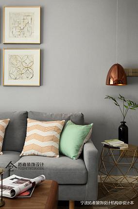 明亮60平北欧二居客厅装修美图二居北欧极简家装装修案例效果图