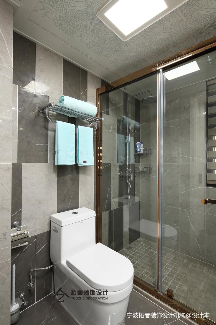 优雅83平北欧二居装修设计图卫生间北欧极简卫生间设计图片赏析