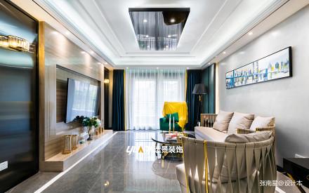 优雅200平混搭别墅客厅效果图片大全别墅豪宅潮流混搭家装装修案例效果图