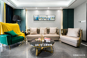 轻奢558平混搭别墅客厅布置图别墅豪宅潮流混搭家装装修案例效果图