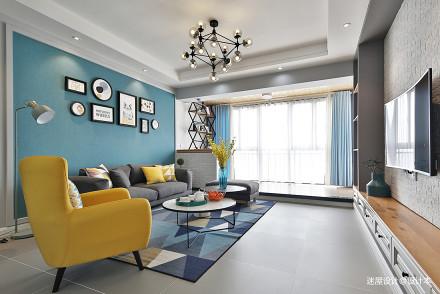 精美86平北欧三居客厅装修装饰图