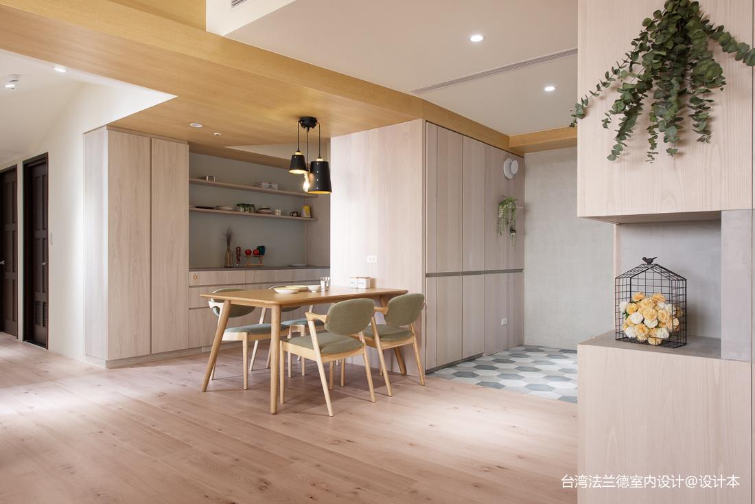 简单北欧三居餐厅设计实景厨房1图北欧极简餐厅设计图片赏析