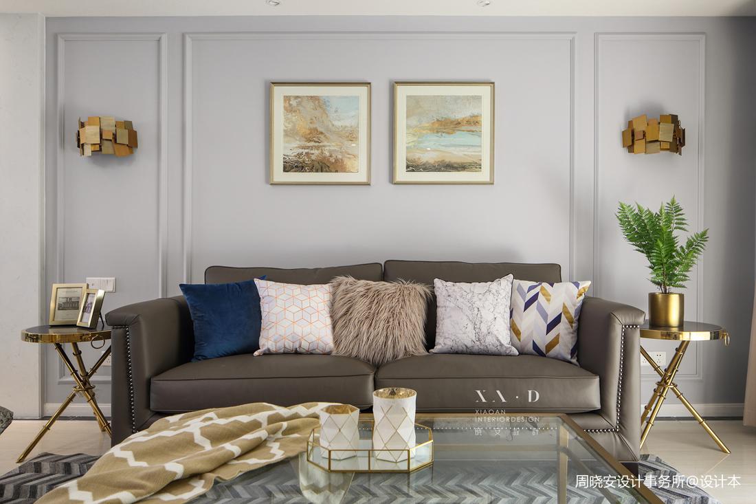 简单大方美式客厅背景画设计客厅背景墙美式经典客厅设计图片赏析