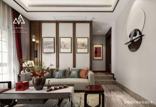 精致594平中式别墅客厅效果图客厅窗帘