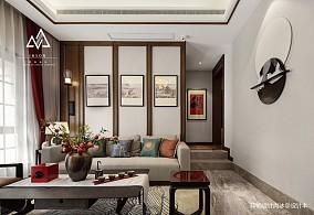 大小123平别墅客厅中式装修实景图片大全