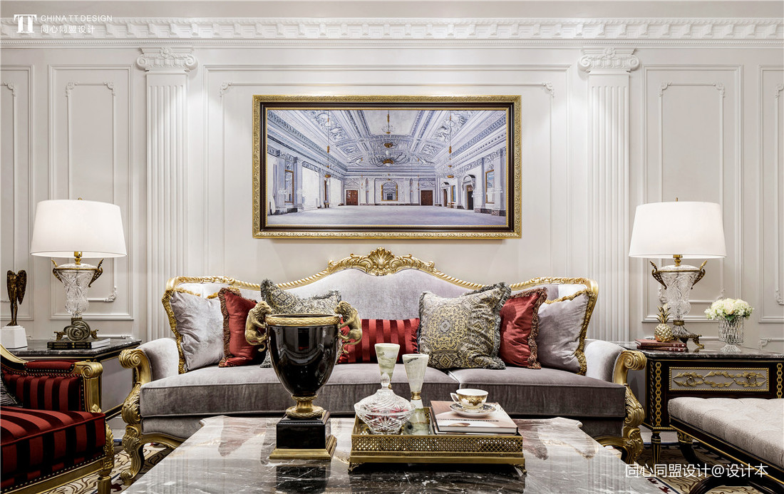 精选客厅装修欣赏图片大全样板间欧式豪华家装装修案例效果图