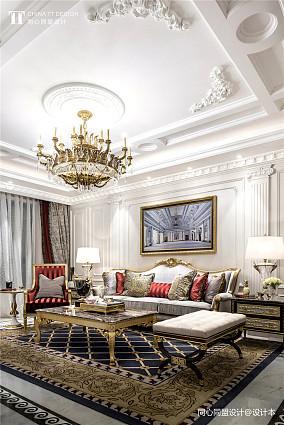 温馨276平法式样板间客厅实拍图样板间欧式豪华家装装修案例效果图