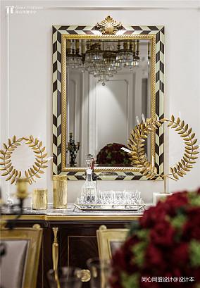 轻奢310平法式样板间餐厅装潢图样板间欧式豪华家装装修案例效果图