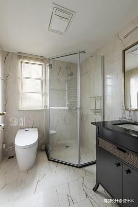 质朴95平混搭三居卫生间设计美图