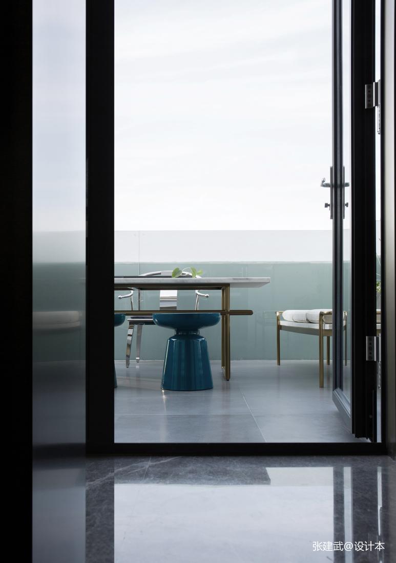 悠雅72平中式二居阳台案例图阳台中式现代阳台设计图片赏析