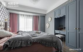浪漫50平混搭二居卧室装饰美图二居潮流混搭家装装修案例效果图
