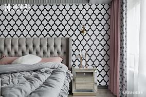 大气72平混搭二居卧室装饰图二居潮流混搭家装装修案例效果图