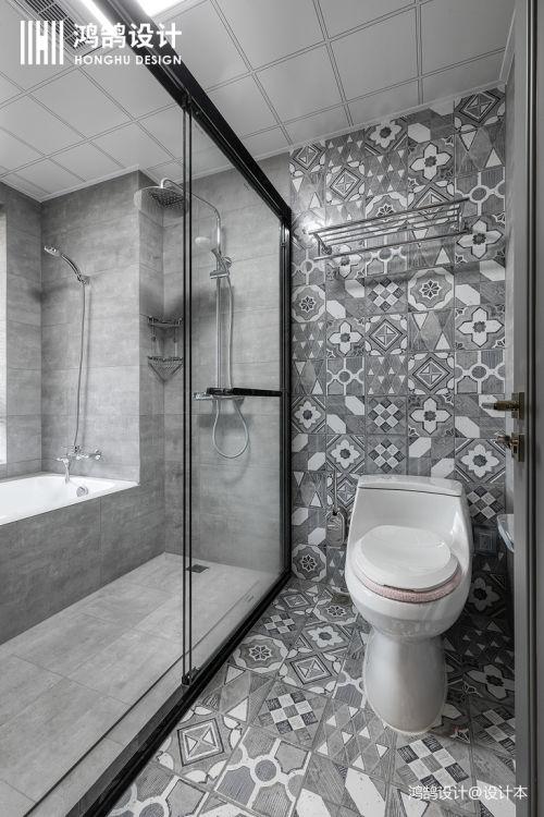 优雅55平混搭二居卫生间效果图片大全卫生间马桶