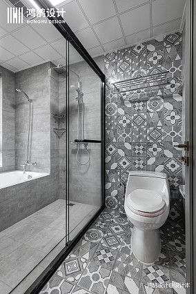 优雅55平混搭二居卫生间效果图片大全