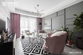 优雅95平混搭二居客厅实景图二居潮流混搭家装装修案例效果图