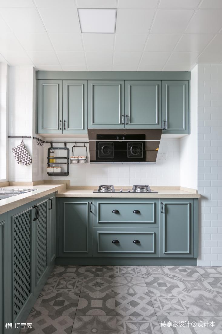 奢华美式厨房设计图餐厅橱柜美式经典厨房设计图片赏析