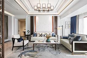 优美400平中式复式客厅装饰图