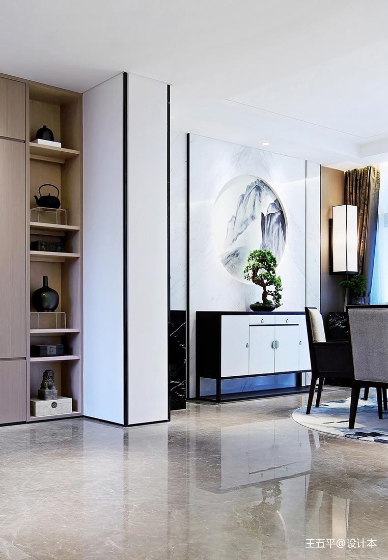悠雅320平中式样板间餐厅装修设计图厨房中式现代餐厅设计图片赏析