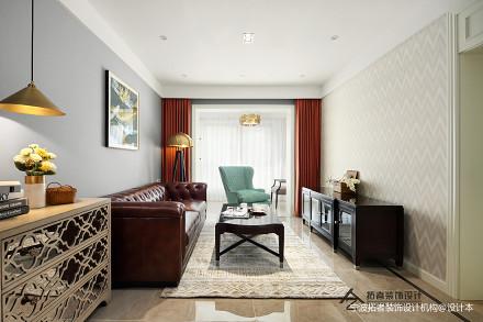 浪漫115平美式三居客厅效果图欣赏三居美式经典家装装修案例效果图