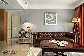 华丽76平美式三居客厅设计案例三居美式经典家装装修案例效果图